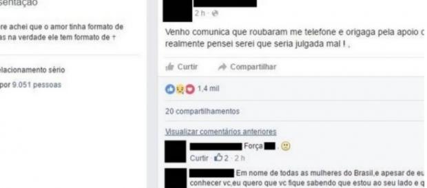 Menina usa Facebook para fazer agradecimentos