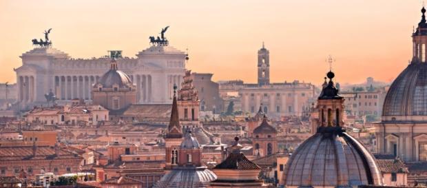 Una visuale della città di Roma.