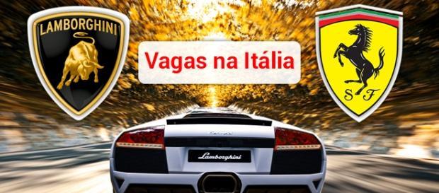 Vagas na Lamborghini e Ferrari. Foto: Reprodução Hdwallpaperbackgrounds.