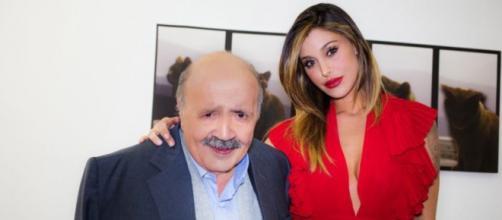 Belen Rodriguez con Maurizio Costanzo