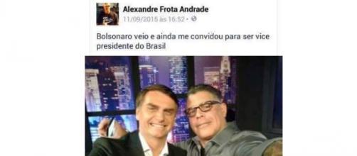Frota pode ser vice de Bolsonaro em 2018