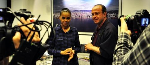 Marina Silva fala com jornalistas em Porto Alegre