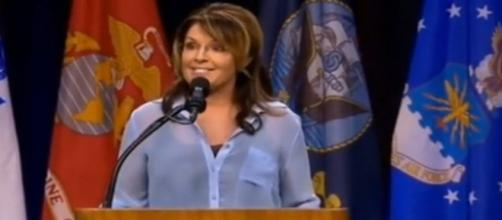 Sarah Palin at Trump rally, via YouTube