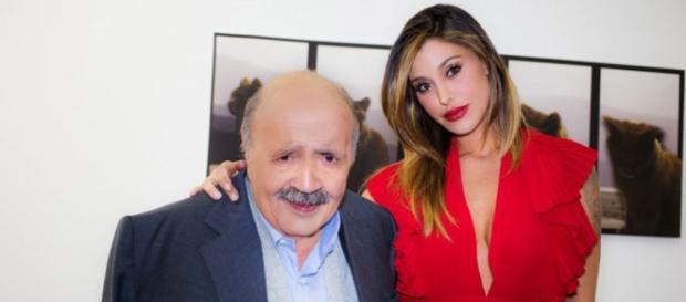 Belen Rodriguez in abito sexy al Maurizio Costanzo Show  Vittorio ... 4d8e95aa84c