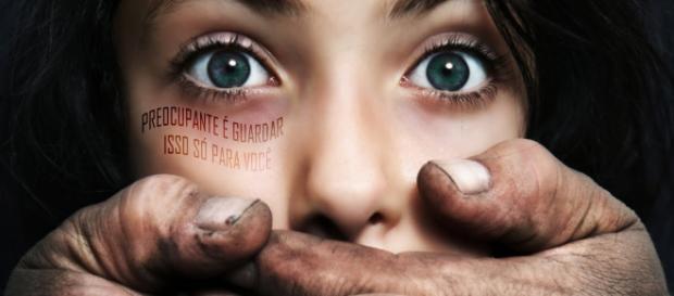 """Imagem da campanha """"Estupro é crime hediondo - denuncie"""""""