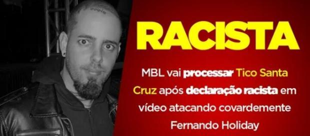 Imagem divulgada pelo MBL em página oficial do Facebook