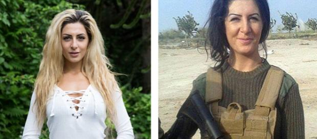 Joanna Palani, luptătoarea kurdă în două ipostaze diferite! Tânăra studioasă VS luptătoarea nemiloasă.