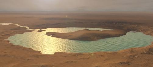 Water on Mars? Photo via Kevin Gill/Wikimedia Commons