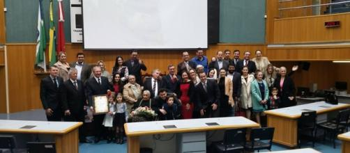 Sessão Solene da Câmara de Londrina (fonte: vereador Gaúcho Tamarrado)