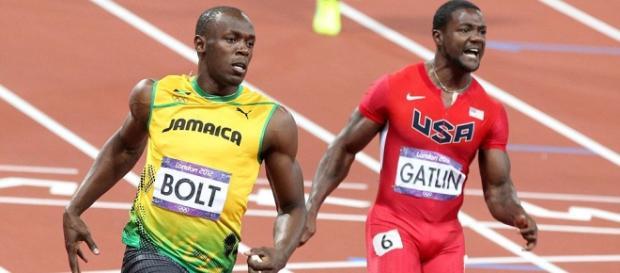 O duelo do jamaicano e o americano em 2015.