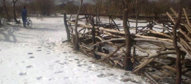 'Snow' in Zimbabwe / Photo via public domain, Facebook