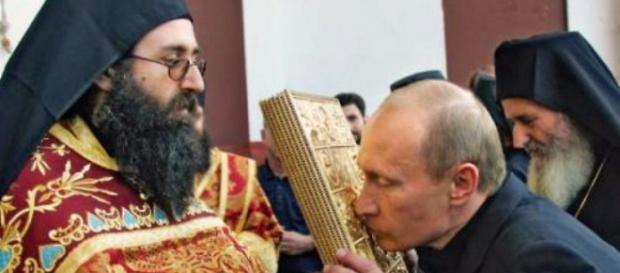 Vladimir Putin la muntele Athos