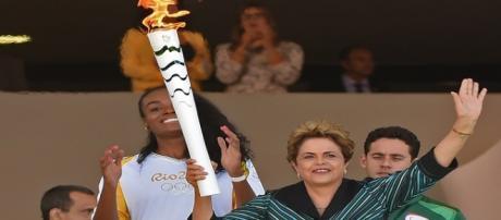 La llama olímpica llegó a Brasil