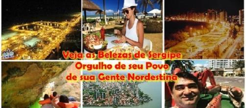 Foto montagem: belezas do estado de Sergipe