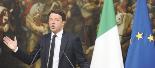 Renzi parla su Riforme. Fonte : http://www.ilfattoquotidiano.it/2016/04/18/referendum-renzi-vittorioso-ma-ad-ottobre-non-sara-una-passeggiata/2648962/