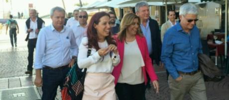 Susana Díaz en Las Palmas de Gran Canaria.