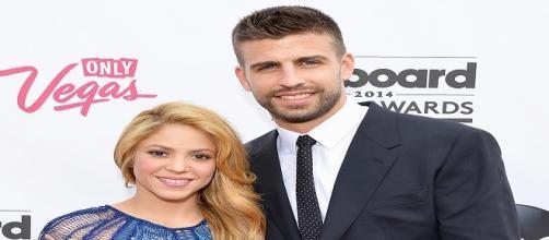 Fotografía de la pareja Shakira y Gerard Piqué