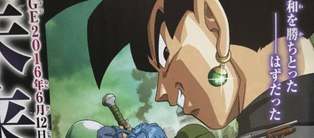 Cartel promocional donde se revela la verdadera apariencia de Black Goku