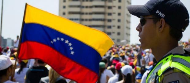 Una manifestazione contro il governo a Caracas