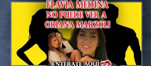 Flavia enojada con su amiga Oriana