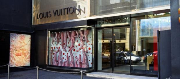 Fachada da loja da Louis Vuitton que foi assaltada no Rio de Janeiro