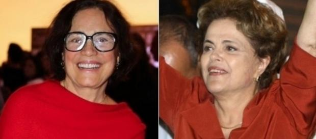 Regina Duarte e Dilma Rousseff - Foto/Montagem