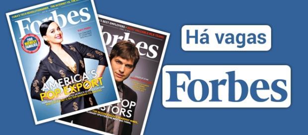 Vagas para trabalhar na revista Forbes nos Estados Unidos.