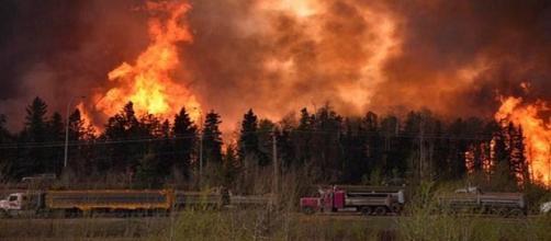 Allarme incendi in Alberta, Canada