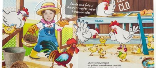 """Cuento personalizado """"La Granja de Sara"""", Editorial SUPER PROTA. (Foto de la web de """"Super Prota""""). Cliquear para ver más cuentos de otras editoriales"""