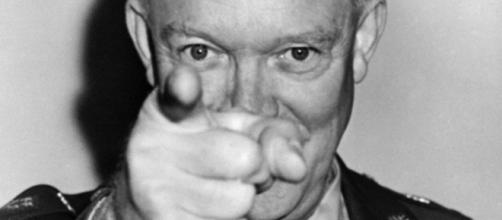 Il generale americano Dwight Eisenhower