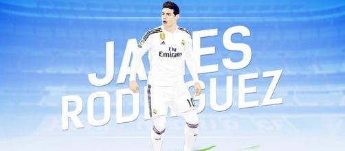 Jugador del Real Madrid: James Rodríguez.