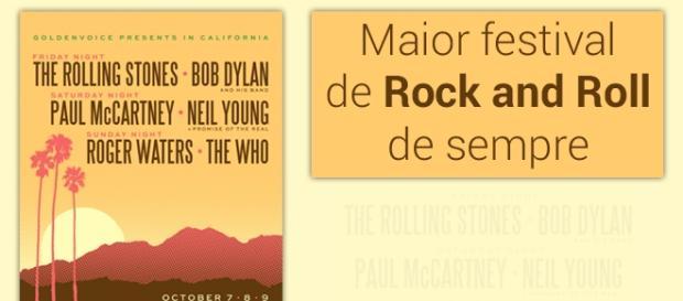 Cartaz do maior festival de rock and roll do mundo - Foto: Reprodução Desert Trip