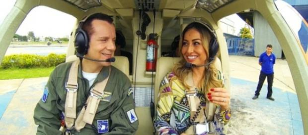 Celso Russomano mostrou seu helicóptero em programa da Sabrina Sato
