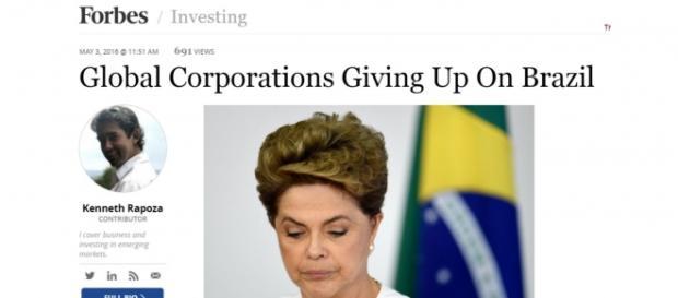 Forbes revela que investidores estão deixando o Brasil