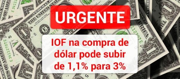 Governo brasileiro quer que IOF chegue a 3% na compra de moedas estrangeiras