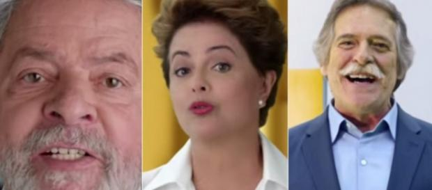 Lula, Dilma e Zé de Abreu - Foto/Montagem