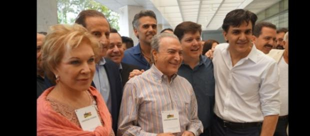 Michel Temer (PMDB) e a senadora Marta Suplicy