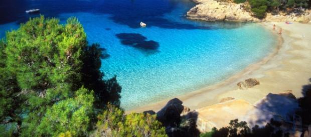 Una de las maravillosas playas en Menorca.