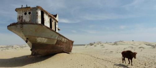Mar de Aral atualmente - Foto: Google