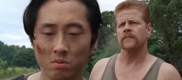 TWD season 7, spoilers about Glenn and Abraham. Screencap: Walking Dead via YouTube