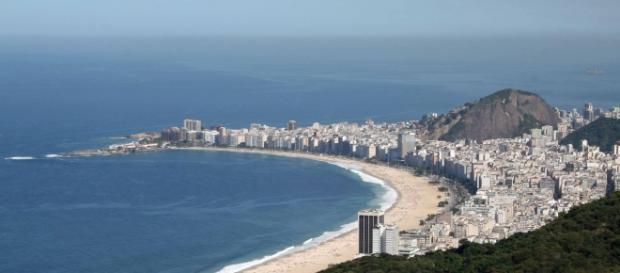Vista para praia de Copacabana