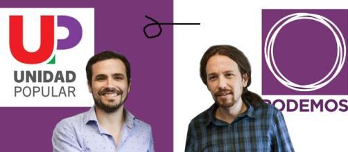 Alberto Garzón (IU-UP), Pablo Iglesias (Podemos)