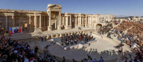 El espectáculo llevó esperanza a Palmira, tras la derrota de ISIS