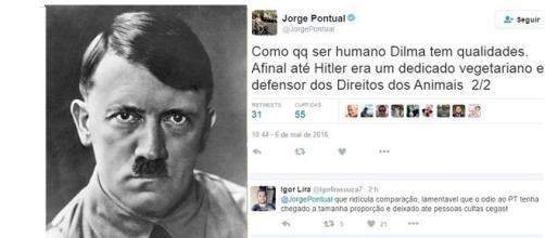 Jornalista da Globo compara Dilma a Hitler