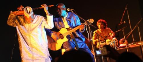 Local African musicians play at the St Louis Jazz Festival in Senegal / Photo via VOA, St Lous Jazz Fest