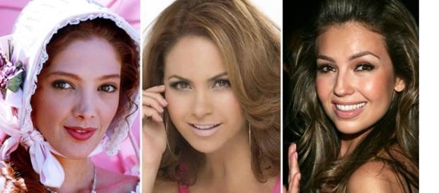 Adela Noriega, Lucero e Thalía, todas atrizes mexicanas com novelas sucessoras no Brasil