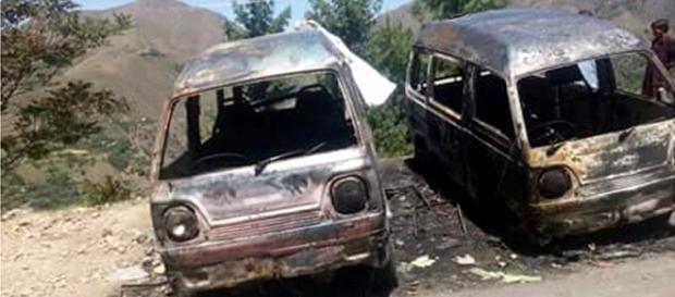Maşinile incendiate în parcarea motelului