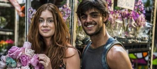 Eliza e Jonatas terminam juntos (Foto: Divulgação/Globo)