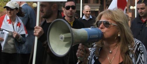 """Le 1er Mai 2008 à Stockholm, des Géorgiens protestent contre les visées de Moscou sur leur pays : """"Non au retour à l'URSS !"""" (Photo : Daniel Malanski)"""