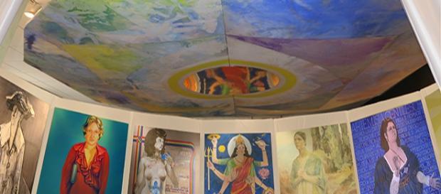 "A detail from ""Sister Chapel"" on Exhibit at Rowan University Photo Courtesy of Jo Ann Goldsmith"